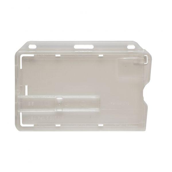 Hartplastikhülle für 1 Karte mit Schieber, horizontal