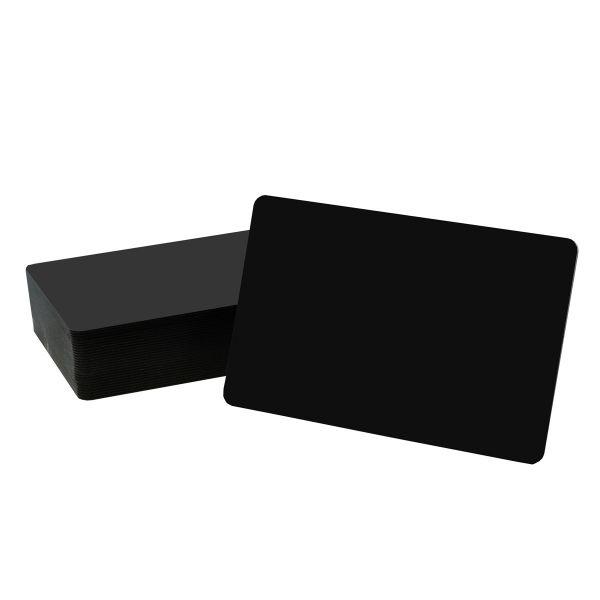 Preisschild - schwarz, beide Seiten matt
