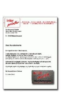 Mailing mit Plastikkarte Karte aufspenden