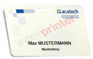 Besucherausweis Plastikkarte