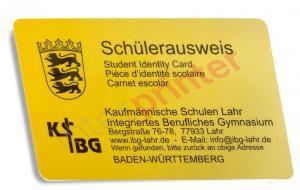 Schülerausweis Plastikkarte